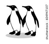 penguin friendship symbol... | Shutterstock .eps vector #604947107