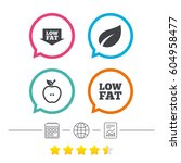 low fat arrow icons. diets and... | Shutterstock .eps vector #604958477