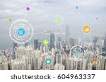internet of things  iots  over... | Shutterstock . vector #604963337