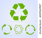 recycled cycle arrows vector... | Shutterstock .eps vector #604964987