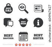 best mom and dad  brother and... | Shutterstock .eps vector #604967627
