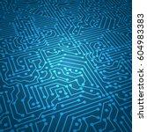 Digital Circuit Blue Vector...
