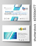 business card templates. easy... | Shutterstock .eps vector #605006477