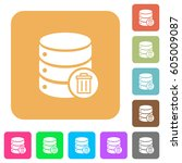 delete from database flat icons ... | Shutterstock .eps vector #605009087