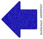 grunge arrow left rubber seal... | Shutterstock . vector #605009537