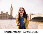 student in london  | Shutterstock . vector #605010887