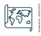 world map vector icon | Shutterstock .eps vector #605013413