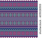 abstract ethnic stripe pattern  ... | Shutterstock .eps vector #605028503