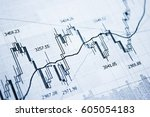 showing business and financial... | Shutterstock . vector #605054183