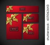 festive gift card  flyer and... | Shutterstock .eps vector #605062643