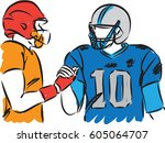 football players vector...   Shutterstock .eps vector #605064707