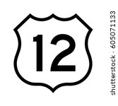 us route 12  filled with white   Shutterstock .eps vector #605071133