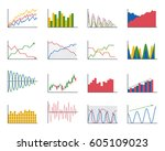 business data graph analytics... | Shutterstock .eps vector #605109023