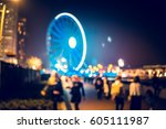 bokeh city street background | Shutterstock . vector #605111987