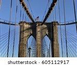 brooklyn bridge  nyc   Shutterstock . vector #605112917