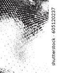 halftone black overlay texture. ... | Shutterstock .eps vector #605120237
