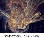 abstract fractal background.... | Shutterstock . vector #605128547