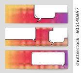 abstract creative concept comic ... | Shutterstock .eps vector #605140697