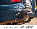 collision car  bumper scratch | Shutterstock . vector #605148503