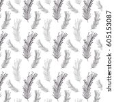 feather decoration background... | Shutterstock .eps vector #605153087