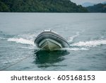 Small Boat Using Engine
