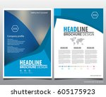 abstract vector modern flyers... | Shutterstock .eps vector #605175923