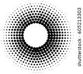 halftone dots design  | Shutterstock .eps vector #605213303
