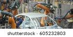 automobile manufacturing line   Shutterstock . vector #605232803