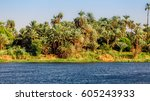 river nile in egypt. life on... | Shutterstock . vector #605243933