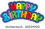 Happy Birthday Sign   Vector...