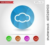colored icon or button of cloud ... | Shutterstock .eps vector #605260433