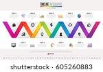 timeline infographics design...   Shutterstock .eps vector #605260883