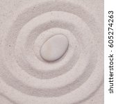 Spiral In The White Sand  With...