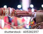 hasta melap ceremony  ...   Shutterstock . vector #605282357