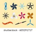 propeller fan vector...   Shutterstock .eps vector #605291717
