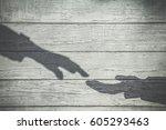 imitation. dark shadows of... | Shutterstock . vector #605293463