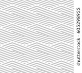 pattern stripe seamless gray... | Shutterstock .eps vector #605298923