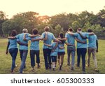 group of diversity people... | Shutterstock . vector #605300333