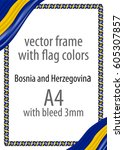 frame and border of ribbon with ... | Shutterstock .eps vector #605307857