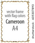 frame and border of ribbon with ... | Shutterstock .eps vector #605307893