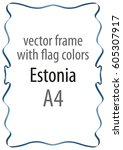 frame and border of ribbon with ... | Shutterstock .eps vector #605307917