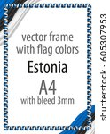 frame and border of ribbon with ... | Shutterstock .eps vector #605307953