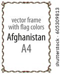 frame and border of ribbon with ... | Shutterstock .eps vector #605309813