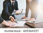 business concept  business man... | Shutterstock . vector #605364257