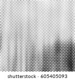 black and white halftone... | Shutterstock . vector #605405093