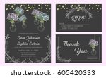 wedding invitation card suite.