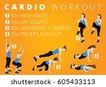 fitness motivation workout | Shutterstock . vector #605433113