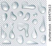 Water Drops Or Liquid Rain...