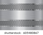 aluminum background with grate... | Shutterstock .eps vector #605480867
