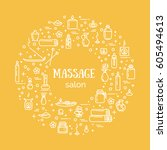 vector illustration   massage... | Shutterstock .eps vector #605494613